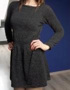 Czarno szara sukienka