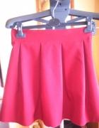 Spódnice rozkloszowane bordo i czarna 34