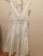 letnia biała sukienka h&m