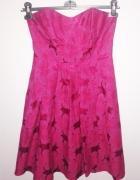Piękna rozkloszowana sukienka Next Fuksja 38 M