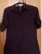 Czarna koszula podwijane rękawy...