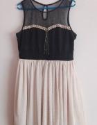 sukienka rozkloszowana tiul sliczna