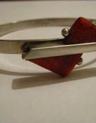 bransoletka z koralem 925