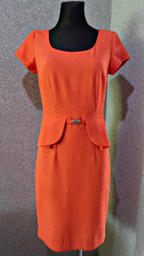 e3defbaf23 de facto sukienka ołówkowa pomarańcz 36 w Suknie i sukienki - Szafa.pl