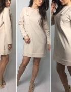 bluza sukienka nude beż kolekcja KIM LA BELLEZZA