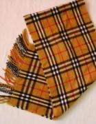 Ciepły szalik do płaszczyka znana krata