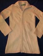 ROXY beżowy długi sweter lambswool S M...