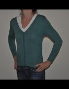 L W YES zielony sweter wełna jedwab L XL...