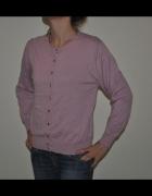 JENNIFER TYLER różowy sweter jedwab kaszmir S M...
