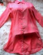 piękna mgiełka tunika koszula różowa...