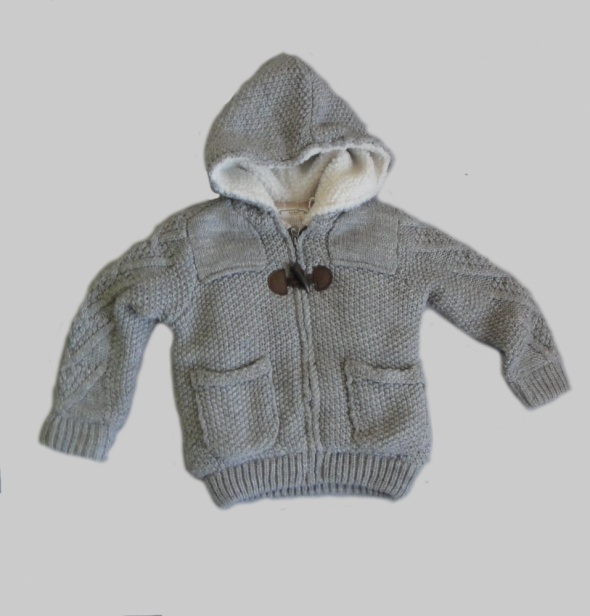 Kurtki Szary sweter kurtka Zara rozm 98cm