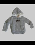 Szary sweter kurtka Zara rozm 98cm...
