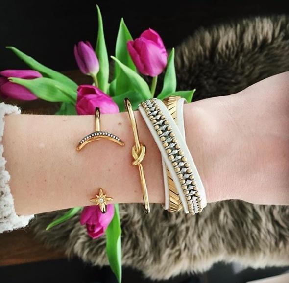 Eleganckie Złote bransoletki