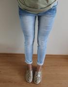 Jasne jeansy rurki 36 JAK NOWE