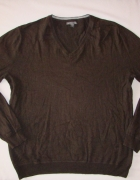 GAP brązowy sweter kaszmir L XL...