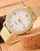 Złoty Zegarek Damski Bransoletka