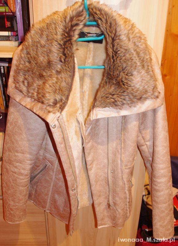 Odzież wierzchnia Kożuszek beżowy RESERVED