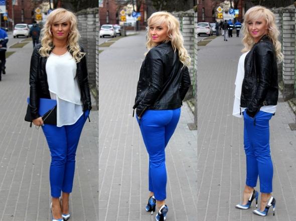 Blogerek Kobaltowe spodnie