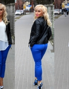 Kobaltowe spodnie...