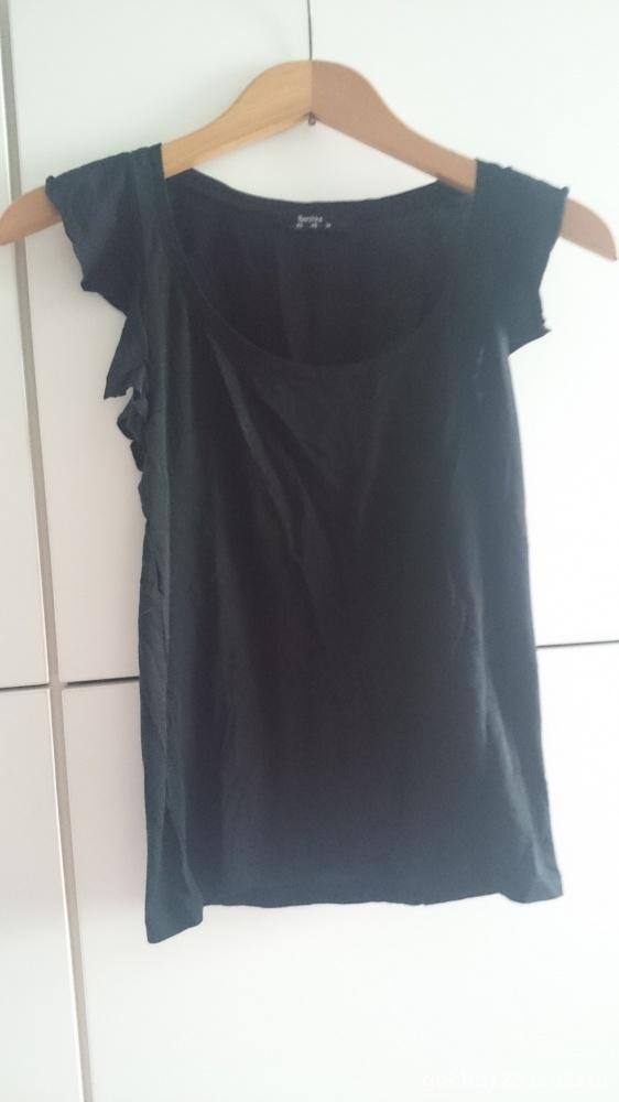 Bluzki bluzka Bershka z falbankami na ramionach XS 34