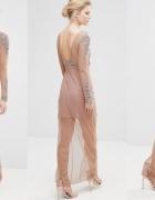 Nowa sukienka maxi MAYA PETITE 34 xs zdobienia
