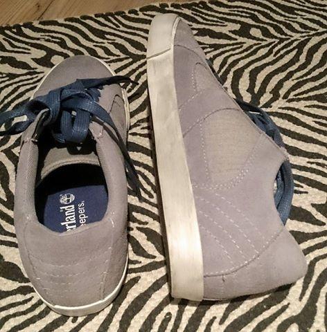 Sportowe Szaro niebieskie buty sportowe Timberland