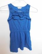 niebieska sukienka dla dziewczynki