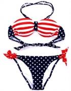 BIKINI strój kąpielowy S M flaga