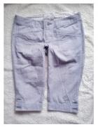 szorty bermudy jeans spodnie rybaczki jeansowe
