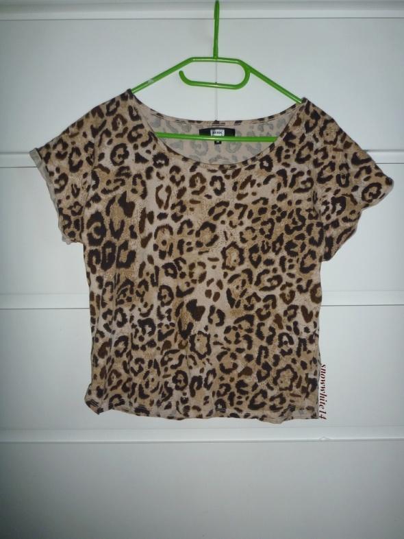 T-shirt bluzka w panterkę bik bok