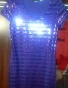 Cekinowa śliwkowa sukienka...
