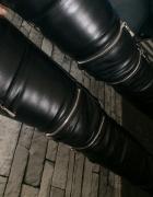 Skórkowe rurki z zipami S