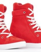 Sneakersy czerwone 39 40 r