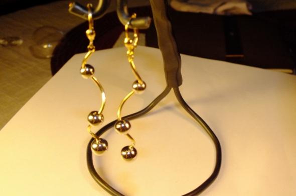 Kolczyki nowe złote kolczyki apart próba 585
