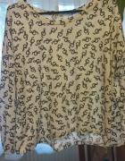 biala bluzka wzor klucze
