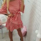 sukienka kratka krateczla falbanka