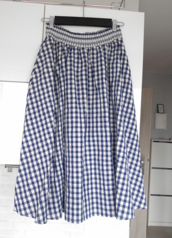 Spódnice Zara spódnica maxi w kratkę kraciasta nowa kolekcj