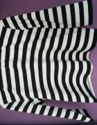 krótka bluzka do pępka czarno białe paski Mango 40