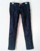 Spodnie rurki jeans dzins H&M granatowe S M