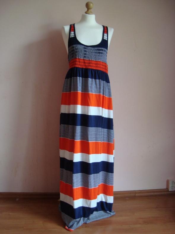 a47281f6 Śliczna maxi bawełniana letnia sukienka w paski w Suknie i sukienki ...