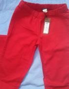spodnie czerowne