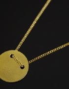 Naszyjnik celebrytka koło pełne pozłacane złoto24K