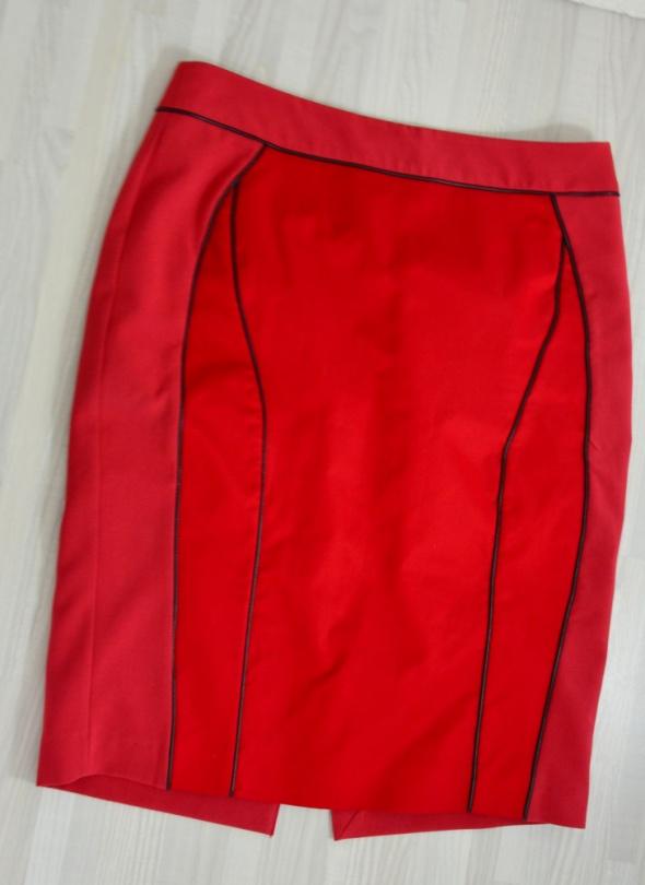 Spódnice Czerwona spódnica ołówkowa