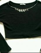 Czarny sweter top