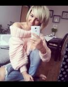 Jeansy i sweter...