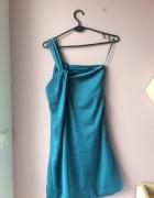 Turkusowa letnia sukienka Benetton...