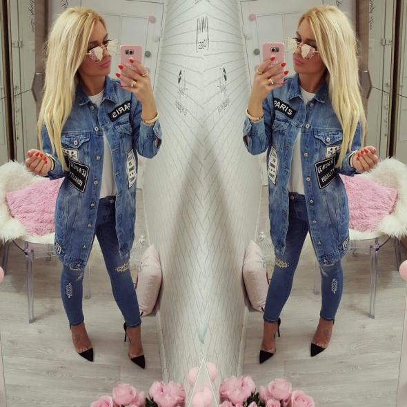 Mój styl katana jeans spodnie naszywki