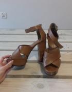skórzane sandały Mango 39...