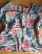 Bluzka crop top Top Shop w kwiaty