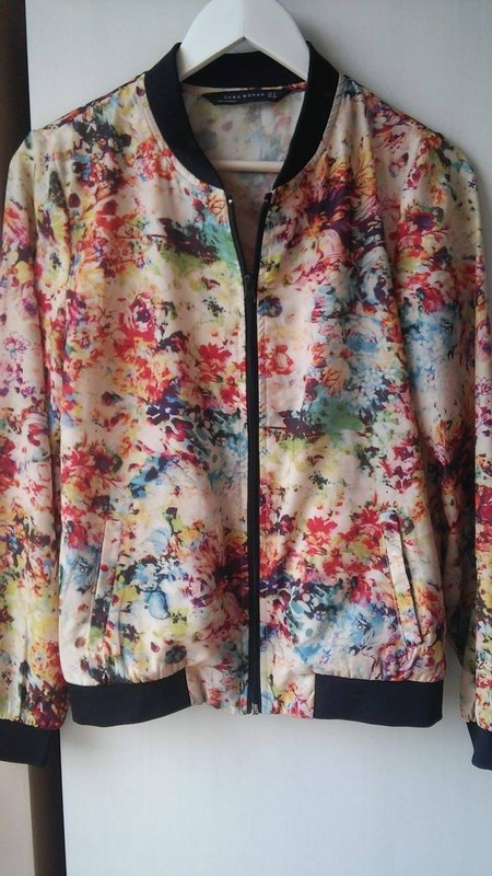 Ubrania Kurtka bomber Zara floral kwiaty bomber jacket